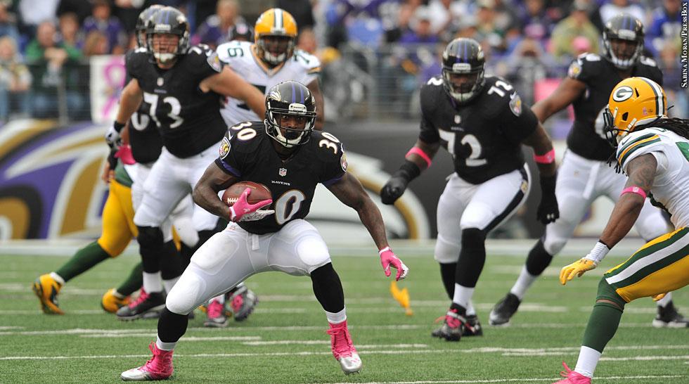 Ravens 2013: Week 6 vs. Packers (Bernard Pierce)