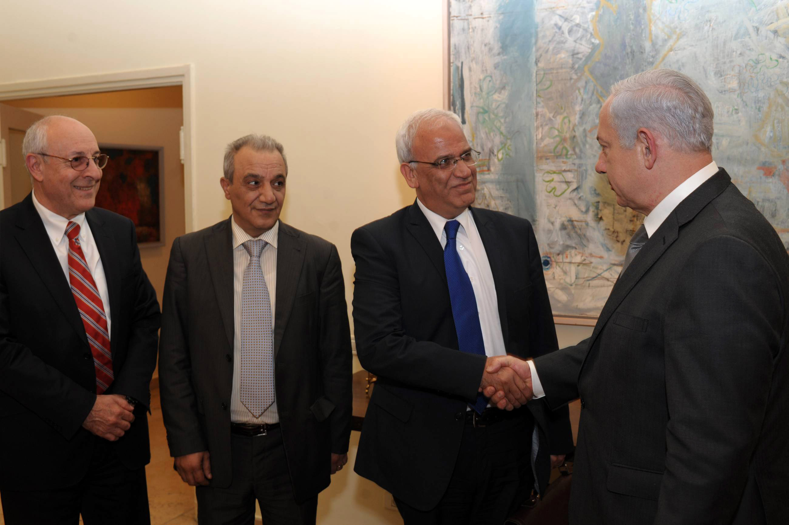 Benjamin Netanyahu Meets With Palestinian Officials In Jerusalem
