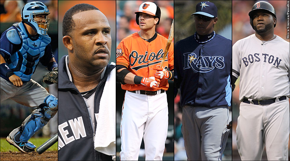 AL East Multi-player (Blue Jays, Yankees, Orioles, Rays, Red Sox)