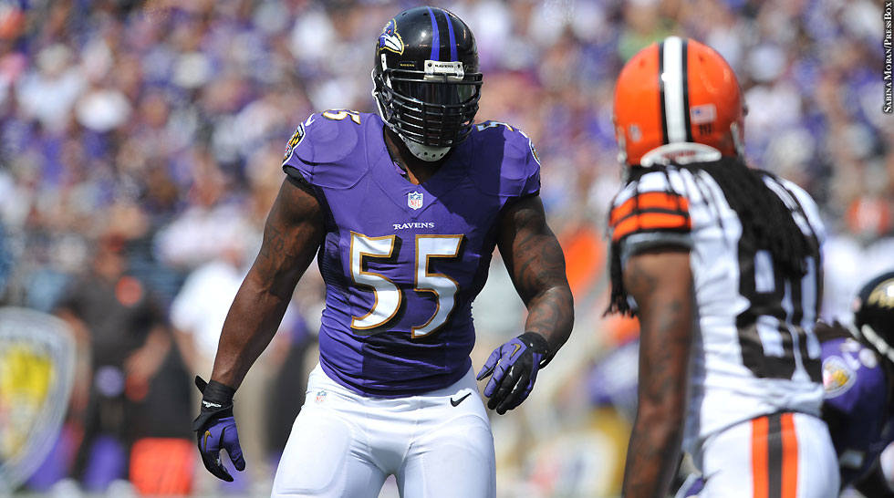 Ravens 2013: Week 2 vs. Browns No. 4 (Terrell Suggs)