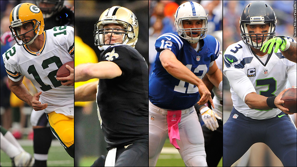Nfl-quarterbacks-aaron-rodgers-drew-brees-andrew-luck-russell-wilson