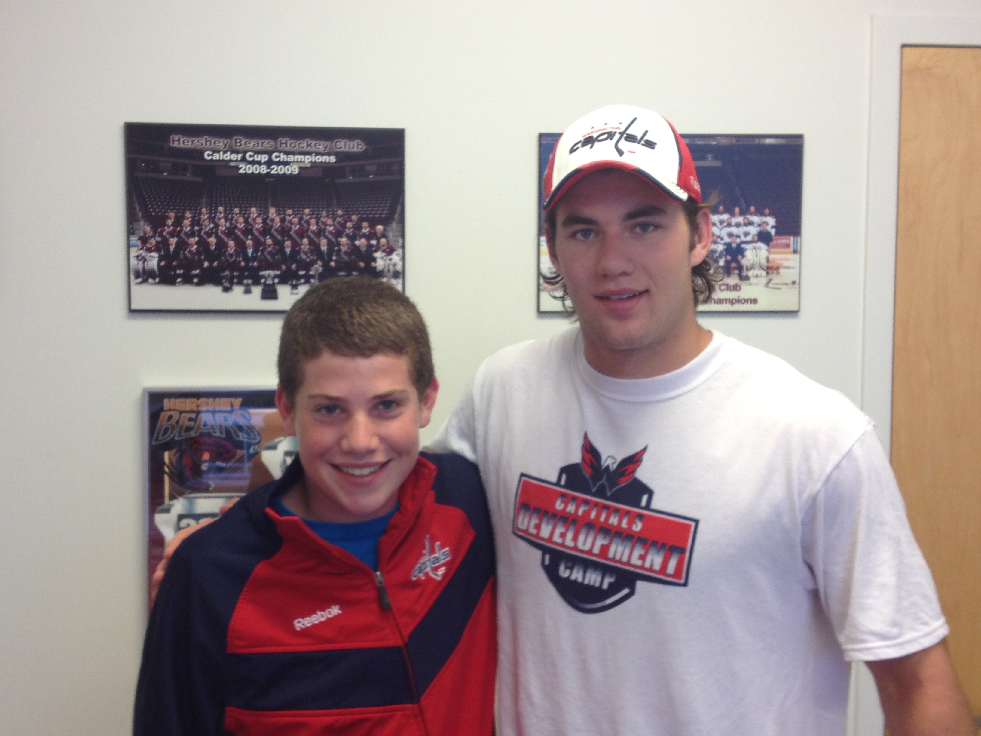 Tom Wilson with Jack Walton