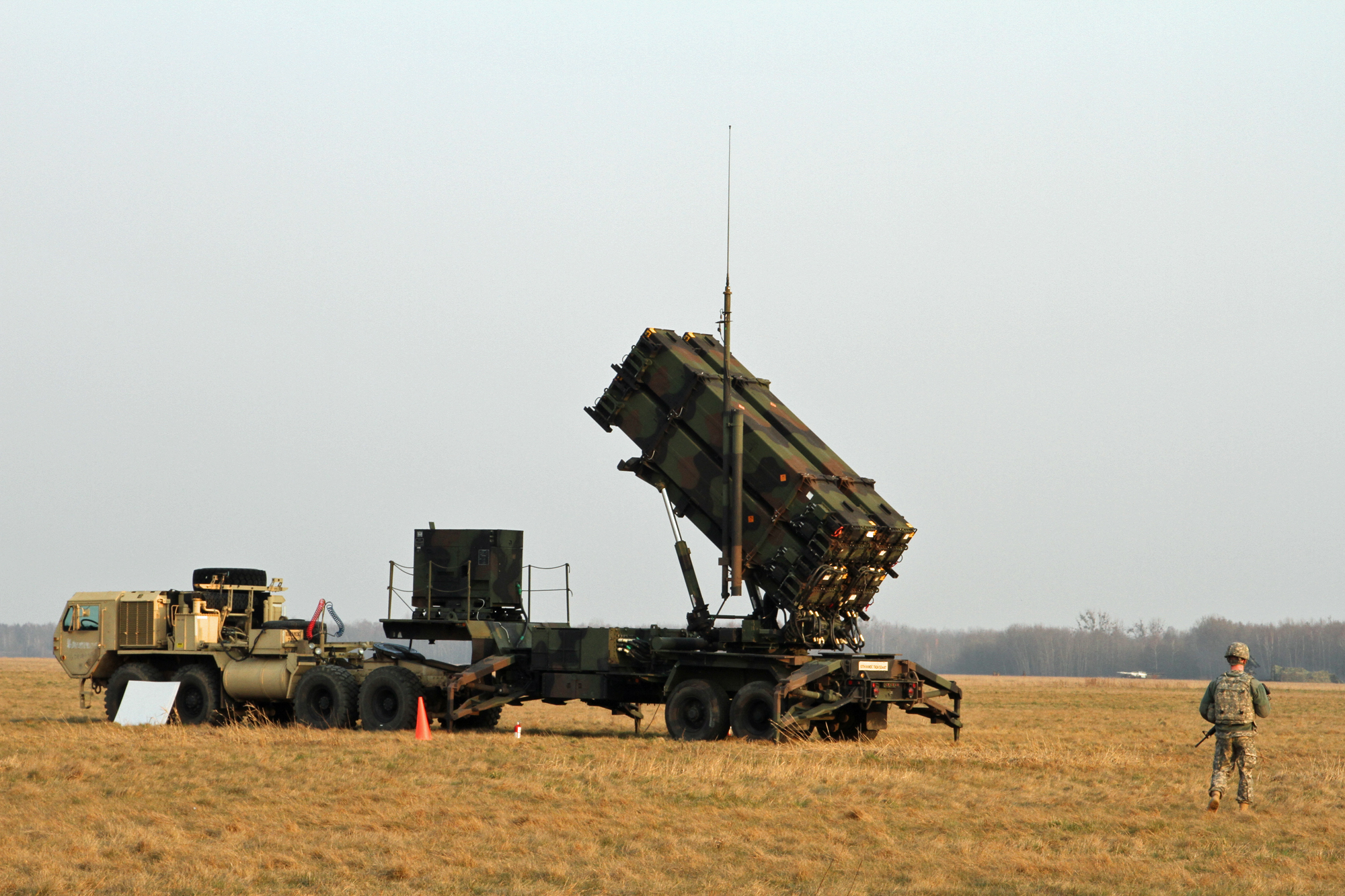 Patriot missile launcher, Poland