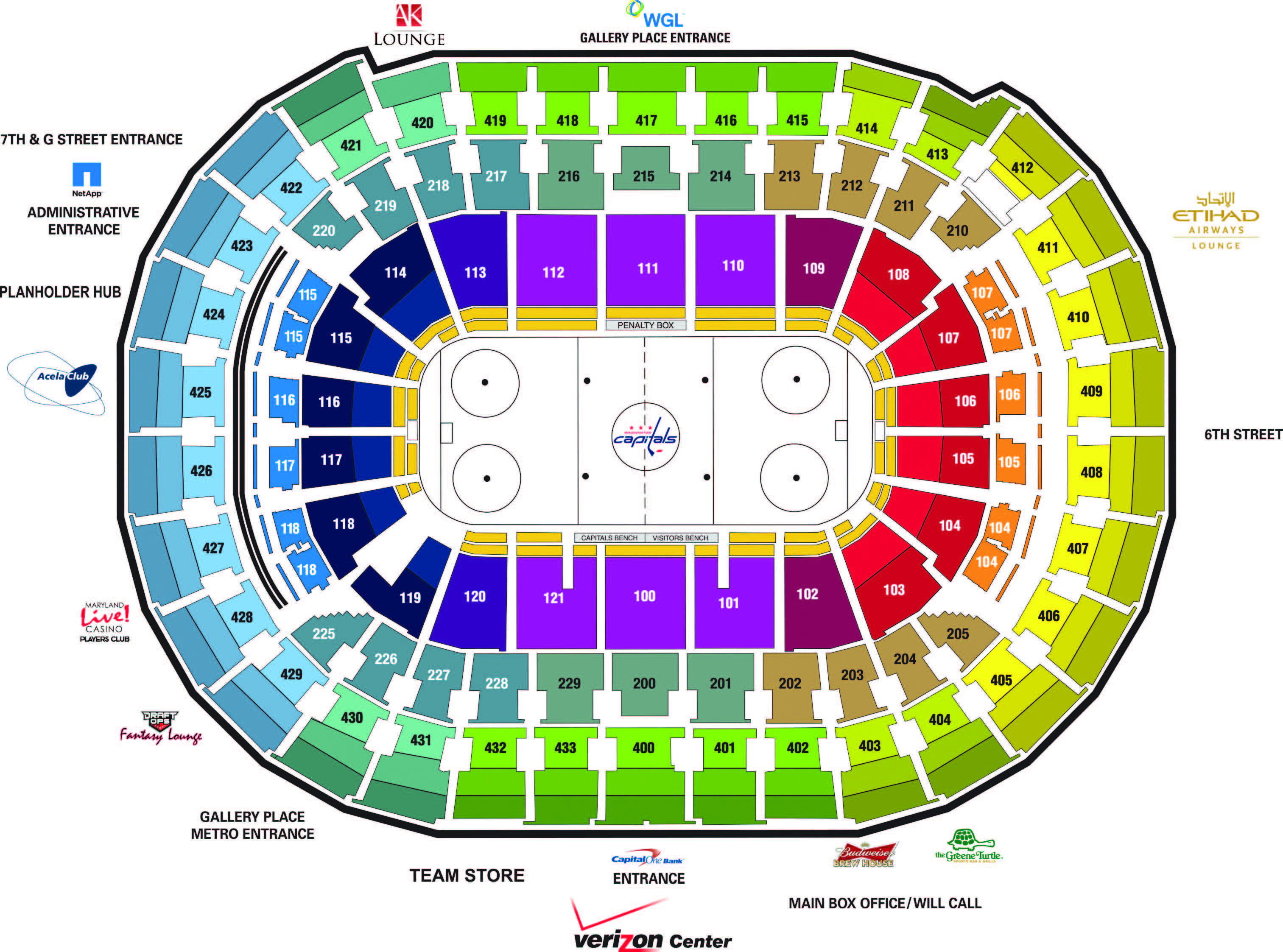 Capital one arena seating chart capital one arena parking