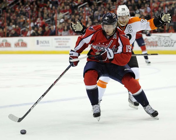 Nicklas Backstrom Friday against the Flyers