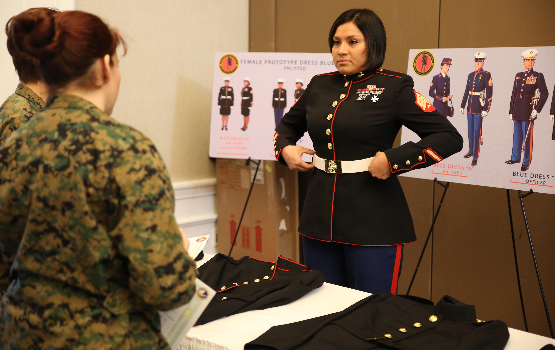 Unisex Dress Blue Coat Less Popular Senior Female Marines