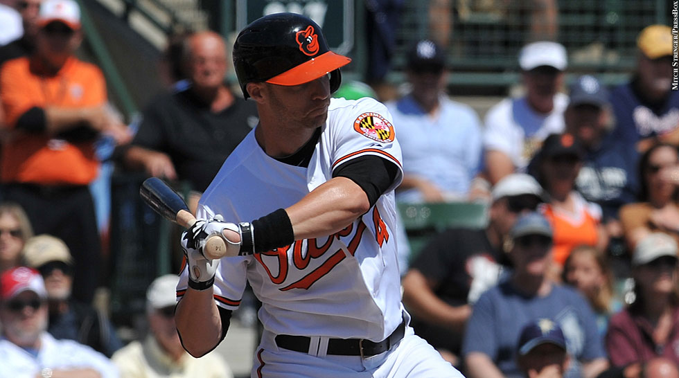 Orioles 2013: Nolan Reimold (swing)