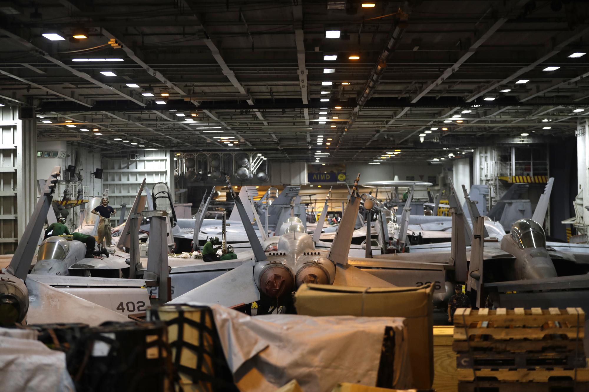 Ike hangar bay