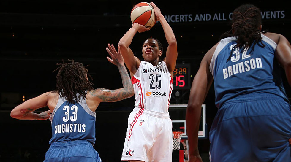 Washington Mystics 2014: Monique Currie PressBoxDC
