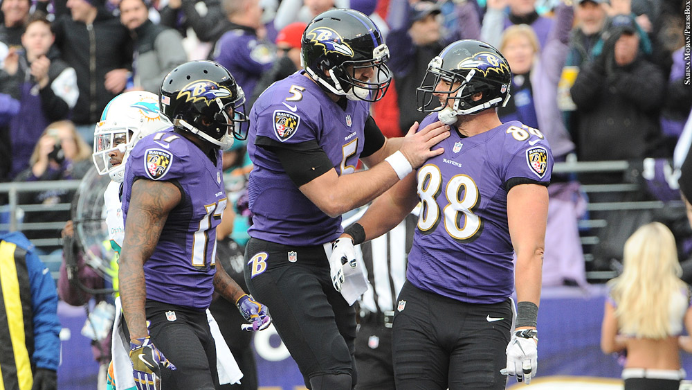 Ravens16-wk13-wallace-flacco-pitta-dolphins