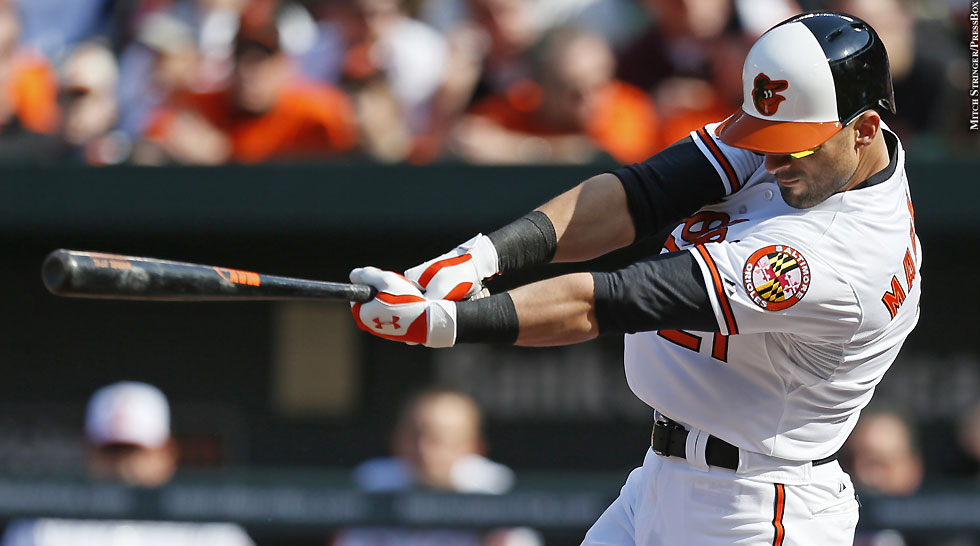 Orioles 2013: Nick Markais (batting)