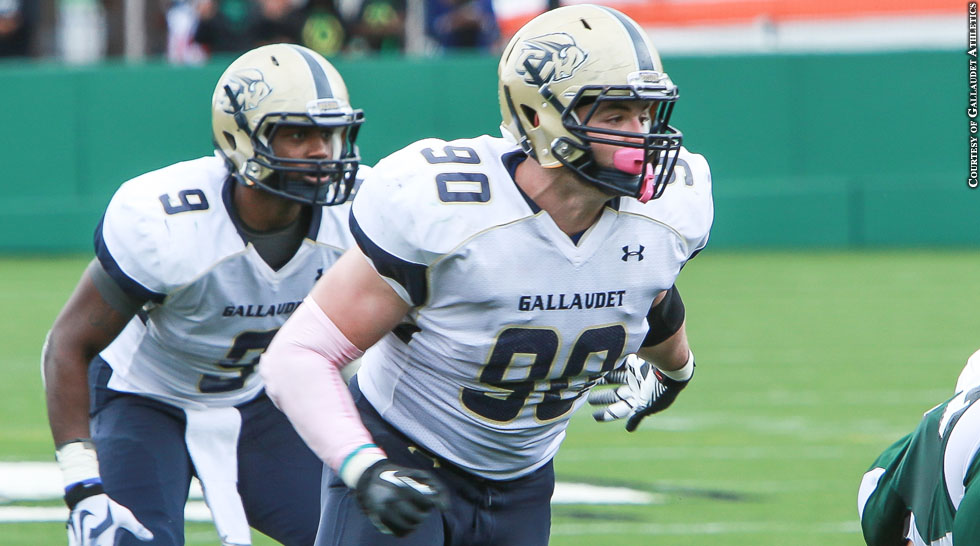 Gallaudet Football 2013: Adham Talaat