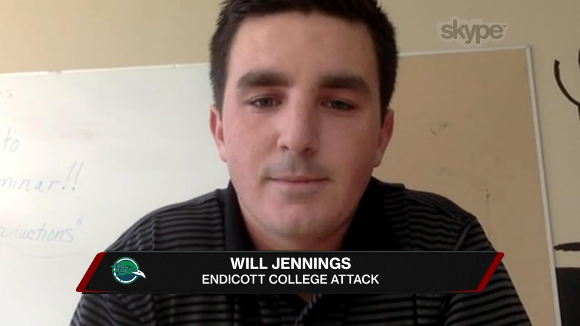 Endicott's Will Jennings on Playing Attack