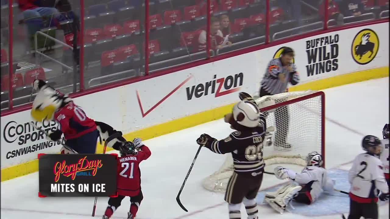 Kids Day Mites on Ice versus Mascots