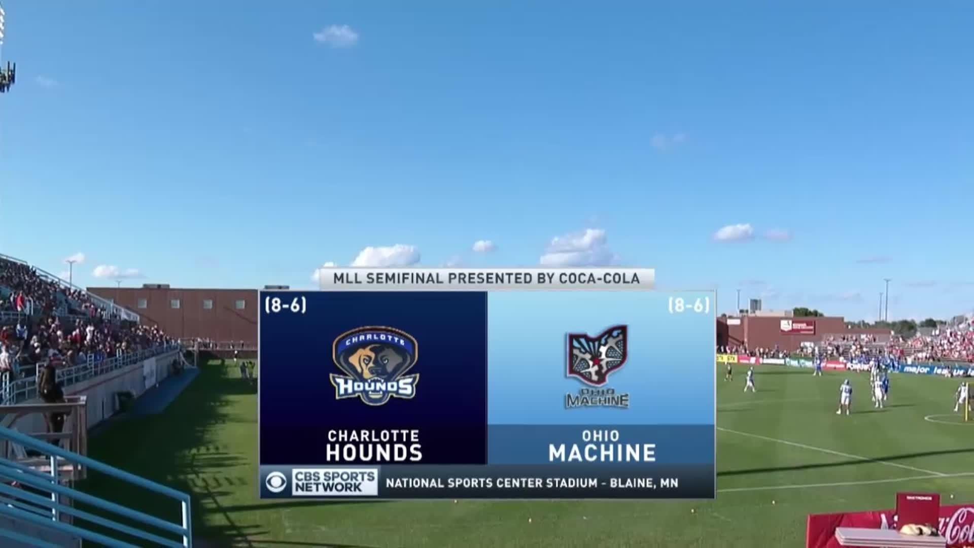 2016 MLL Semi-Final: Charlotte Hounds vs Ohio Machine